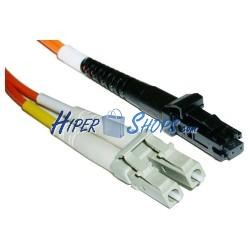 Cable de fibra óptica LC a MTRJ multimodo duplex 62.5/125 de 15 m