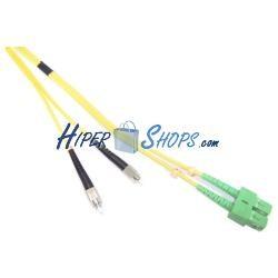 Cable de fibra óptica FC/PC a SC/APC monomodo duplex 9/125 de 10 m