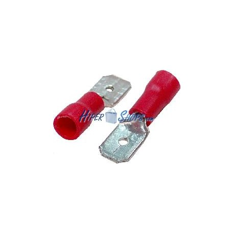 Terminal Faston Macho Rojo (6.3mm) 100 Pack