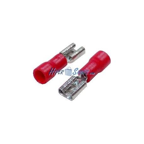 Terminal Faston Hembra Rojo (4.8mm) 100 Pack