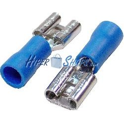 Terminal Faston Hembra Azul (6.3mm) 100 Pack