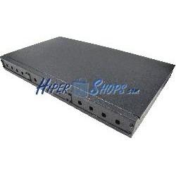 Patch panel rack 19&quot- de fibra óptica 1U negro de 12 ST