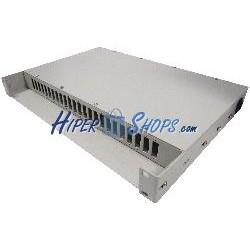 Patch Panel de fibra óptica 1U beige de 24 SC duplex