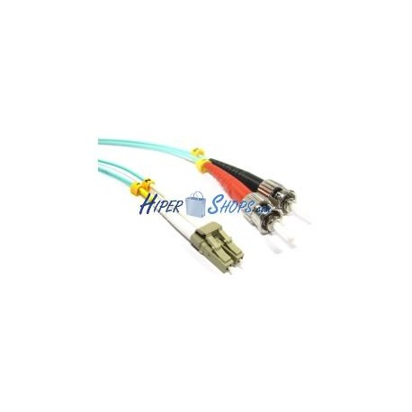 Cable OM3 de fibra óptica LC a ST multimodo duplex 50/125 de 7m