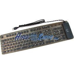 Teclado flexible USB y PS2 de 109 teclas y negro