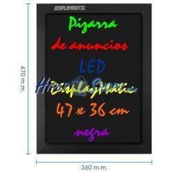 Pizarra de LED de DisplayMatic de 47 x 36 cm negra