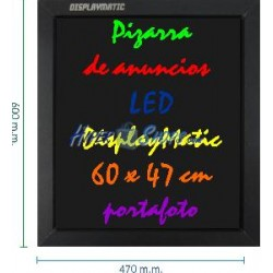 Pizarra de LED de DisplayMatic de 60 x 47 cm portafoto