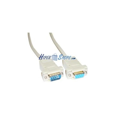 Cable Serie Null-Modem 1.8m (DB9-M/H)