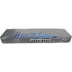 Rack 19&quot-&quot- WEB Giga Switch de 10/100/1000 Mbps de 16 UTP y 2 SFP
