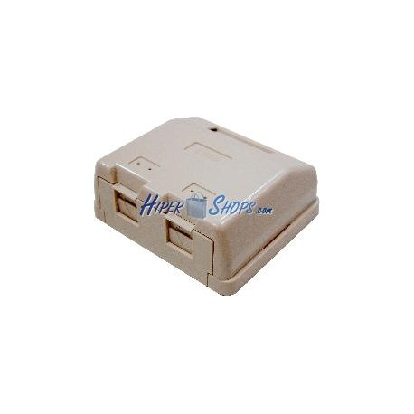 Caja de superficie de 2 RJ45 Cat.6 FTP