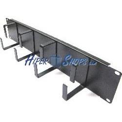 Panel guíacables para rack19 de 2U con 4 anillas de metal