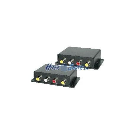 Extensor audio y vídeo compuesto UTP Cat.5 DUAL emisor y receptor CE02A
