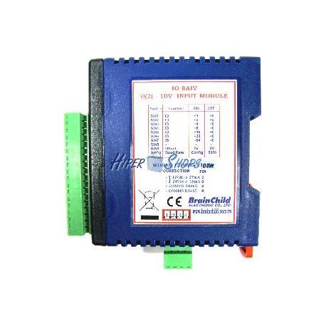 Módulo RS485 de 8 entradas analógicas voltaje (BrainChild IO-8AIV)