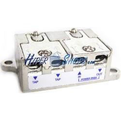 Derivador de 2 vías para TV/SAT de 16 dB con conexión rápida