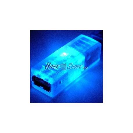 Adaptador USB con LED AZUL (AH/BH)