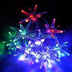 Estrellas de Navidad multicolor por USB