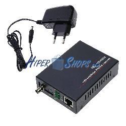 Conversor de fibra óptica 100 Mbps monomodo de ST a RJ45 a 60km simplex 1550nm