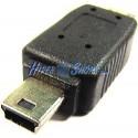 Adaptador USB (MiniUSB5pin-M Tipo B/MicroUSB-M Tipo B)
