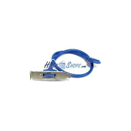 Placa USB 3.0 de HS20 hembra a HS20 hembra (perfil bajo)
