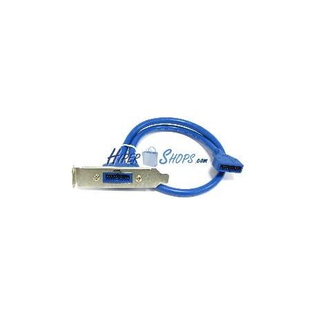 Placa USB 3.0 de BH20 macho a BH20 macho (perfil bajo)