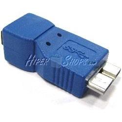 Adaptador USB 3.0 a USB 2.0 (MicroUSB B Macho a MiniUSB B Hembra)