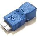 Adaptador USB 3.0 a USB 2.0 (MicroUSB B Macho a MiniUSB A Hembra)