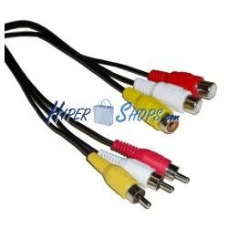 Cable Audio+Video Stereo 5m (3xRCA-M/H)