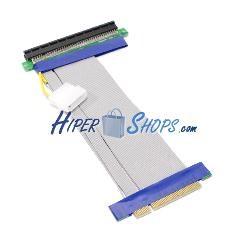 Cable extensión PCIe 16X 8X 19cm alimentación