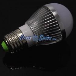 Bombilla LED G45 E27 230VAC 3W luz cálida