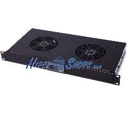 """Kit ventilación con termostato para rack 19"""" de 2 ventiladores de 120mm"""