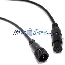 Cable DMX DMX512 XLR-IP65 3pin macho a XLR 3pin hembra 2m