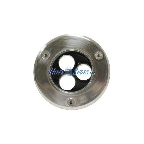 Foco LED de suelo 3W 90mm luz blanco frío día