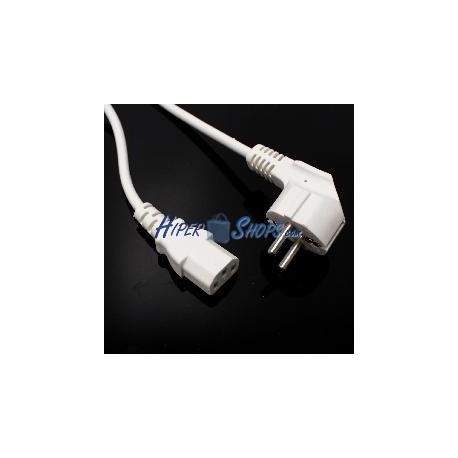 Cable de alimentación IEC-60320 blanco C13 SCHUKO-macho 1.8m