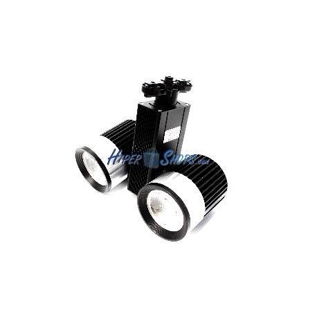 Foco LED de rail 40W blanco frio 90x122mm negro dual