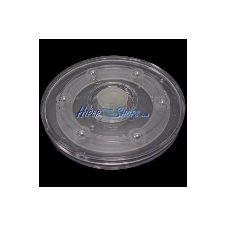 Base rotatoria manual d100mm h12mm transparente