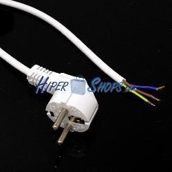 Cable de alimentación eléctrico IEC60320 1.8 m de schuko a bornes de color blanco