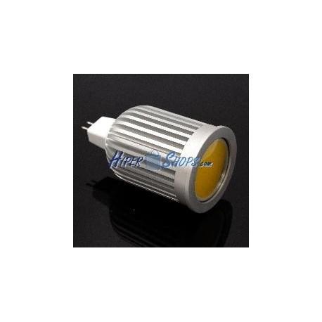 Bombilla LED COB MR16 12VDC 7W 50mm luz fría día con difusor