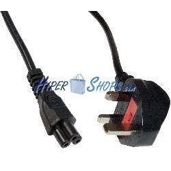 Cable eléctrico British Standard BS-1363-1 a IEC-60320-C5 de 3m negro