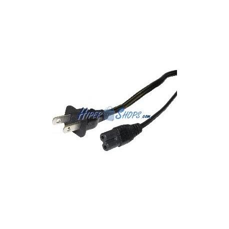 Cable eléctrico US NEMA-1-15P a IEC-60320-C7 de 1.8m negro