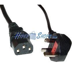 Cable eléctrico British Standard BS-1363-1 a IEC-60320-C13 de 1.8m negro