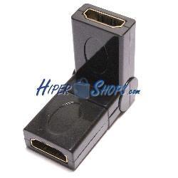 Adaptador rotatorio HDMI-A-hembra a HDMI-A-hembra