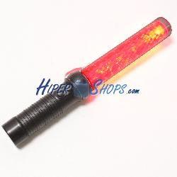 Barra luminosa de señalización de 45x300mm color rojo con 3 funciones y señal acústica