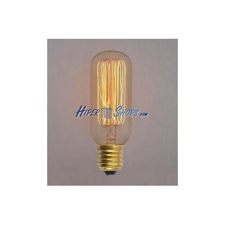 Bombilla Edison de filamentos incandescentes E12 220VAC 25W 25x92mm T25