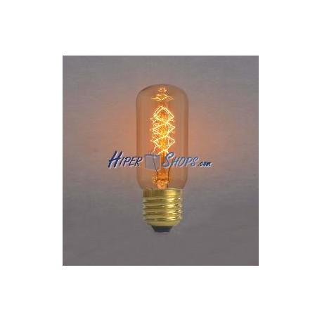 Bombilla Edison de filamentos incandescentes E27 220VAC 25W 45x110mm T45