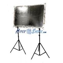 Panel reflector difusor rectangular de 140x200mm desmontable con soporte