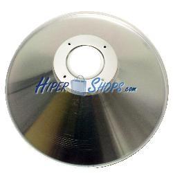 Pantalla reflectora para lámpara LED industrial de apertura 120° 50x14cm