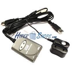 Conmutador de teclado y ratón por USB de 2 puertos