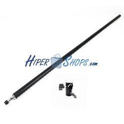Adaptador tubular de 25mm a 16mm con rótula y barra de 120cm