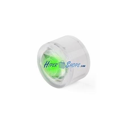 Luz de suelo circular solar LED fotovoltaica 50x35mm verde