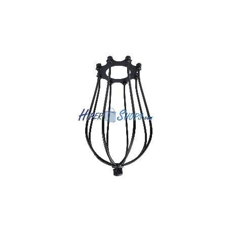 Pantalla para lámpara tipo jaula metálica de color negro 100x175mm